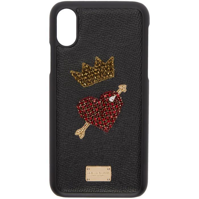 Dolce & Gabbana Black Heart Iphone X Case