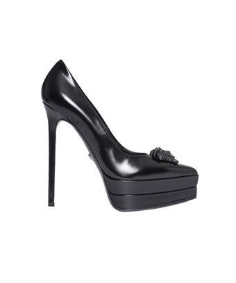 Versace Women's  Black Leather Pumps