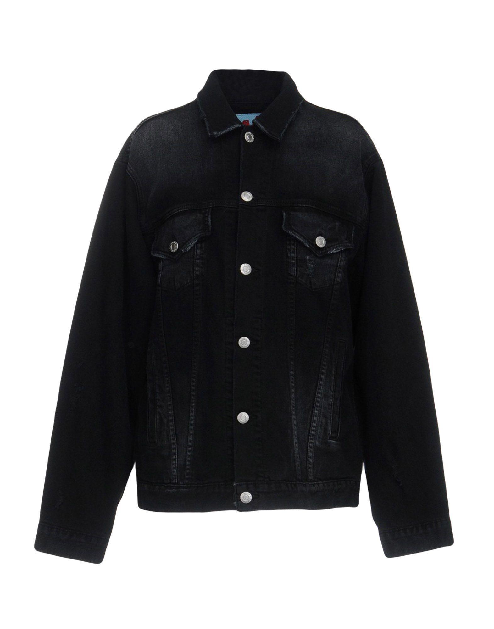 Adaptation Denim Outerwear In Black