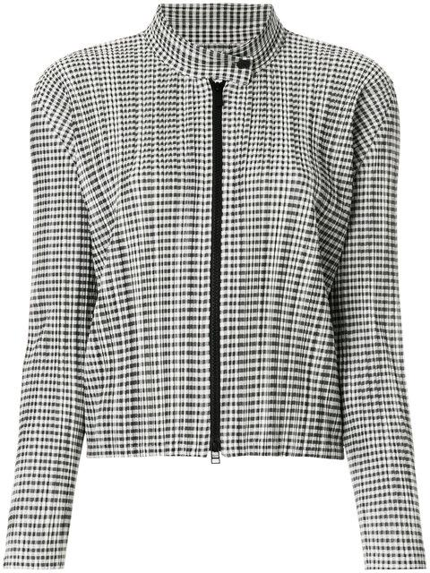 Pleats Please Issey Miyake Pleats Please By Issey Miyake Checked PlissÉ Jacket - Grey