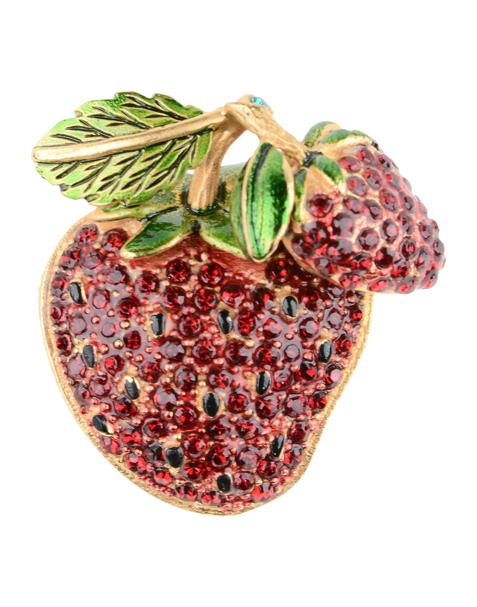 Dolce & Gabbana Brooches In Red
