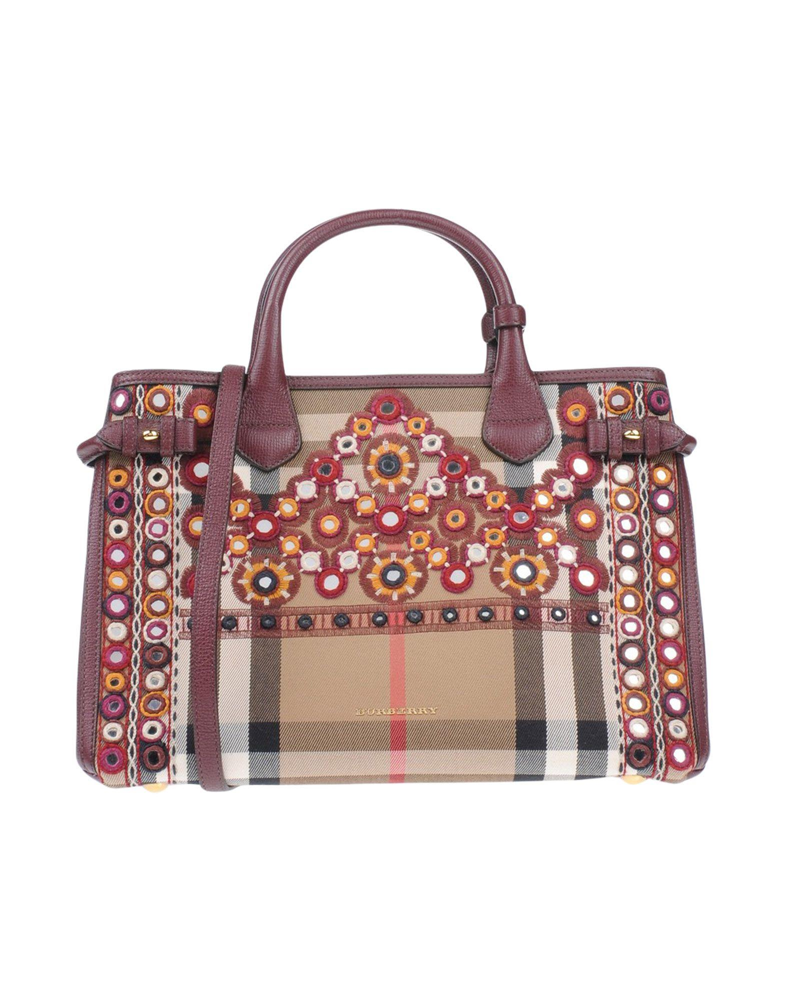 Burberry Handbags In Maroon