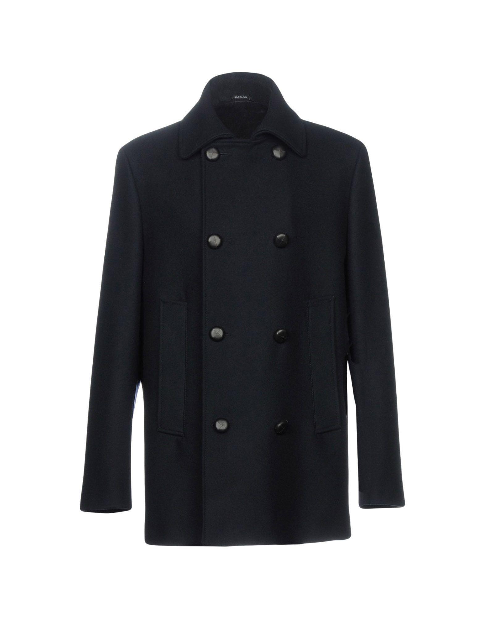 Maison Margiela Coats In Dark Blue