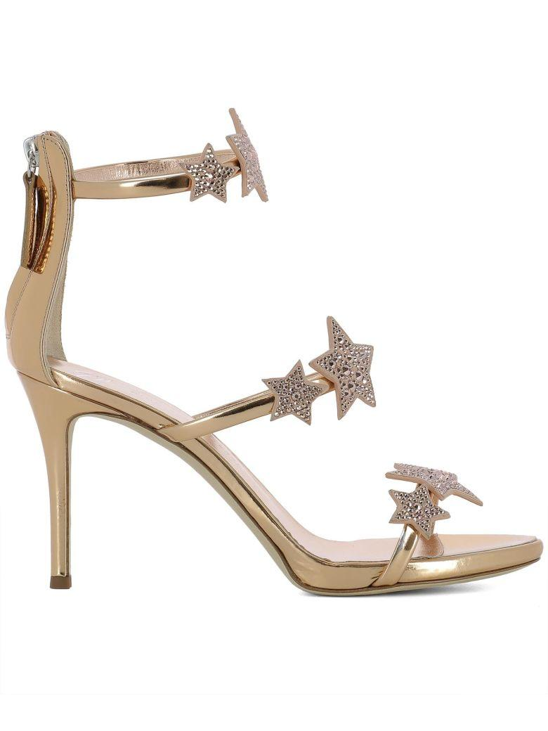 Giuseppe Zanotti Gold Leather Alien 80 Sandals