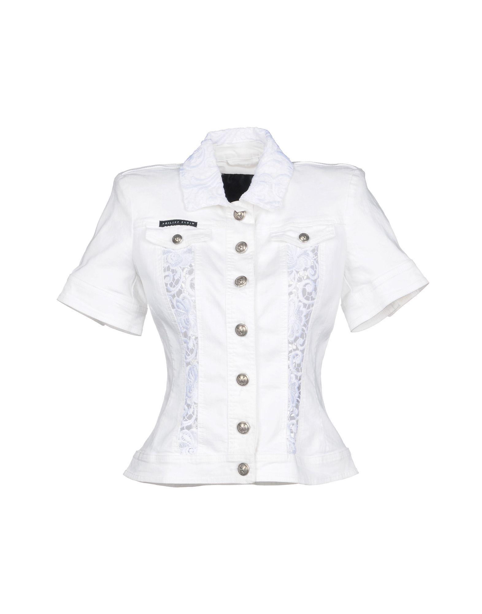 Philipp Plein Denim Jacket In White