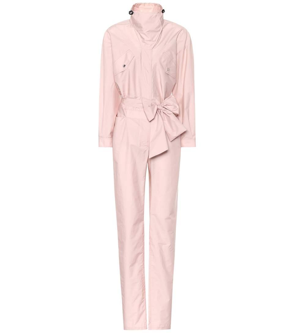 Valentino Cotton-blend Jumpsuit In Pink