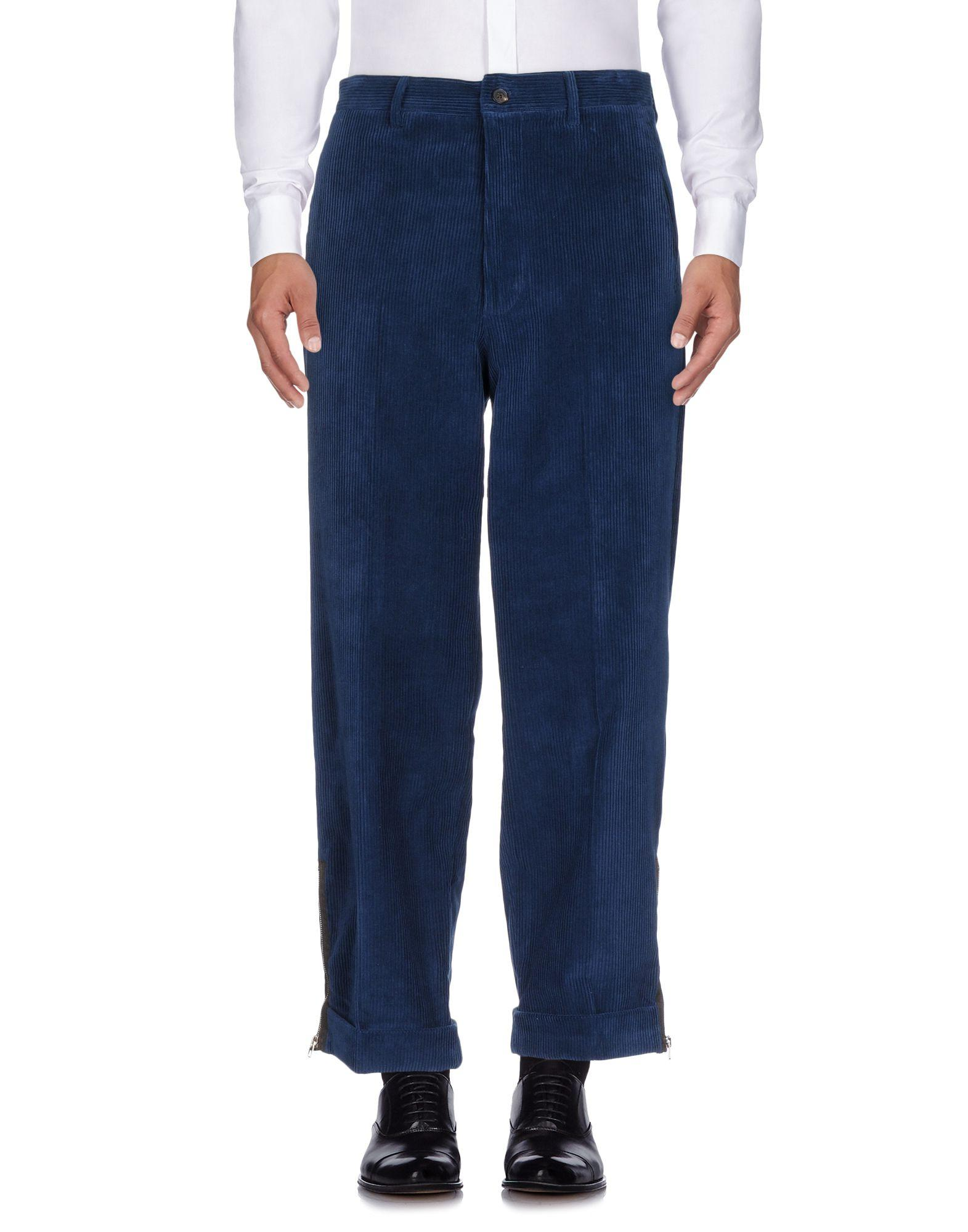 Umit Benan Casual Pants In Slate Blue