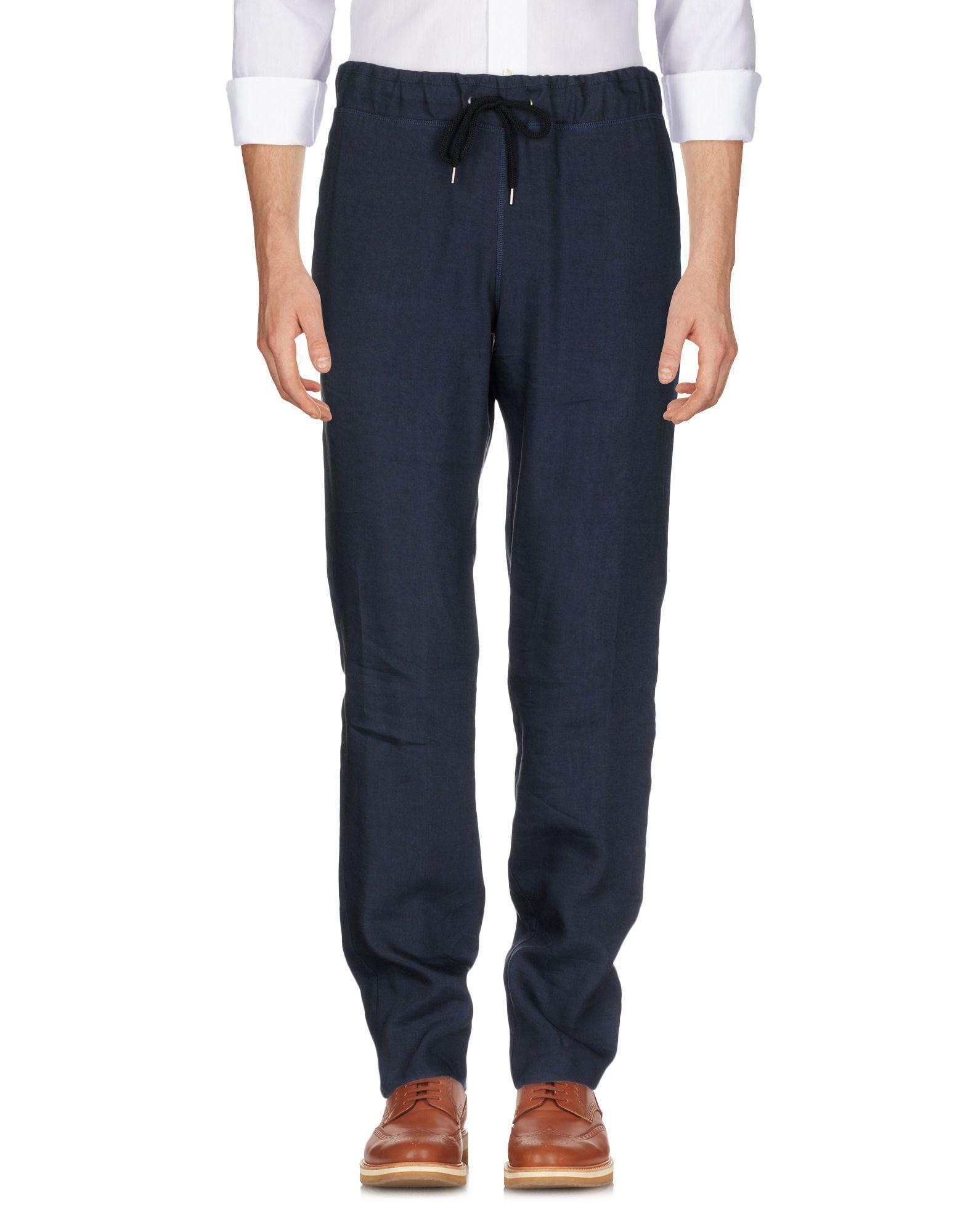 Giorgio Armani Casual Pants In Dark Blue