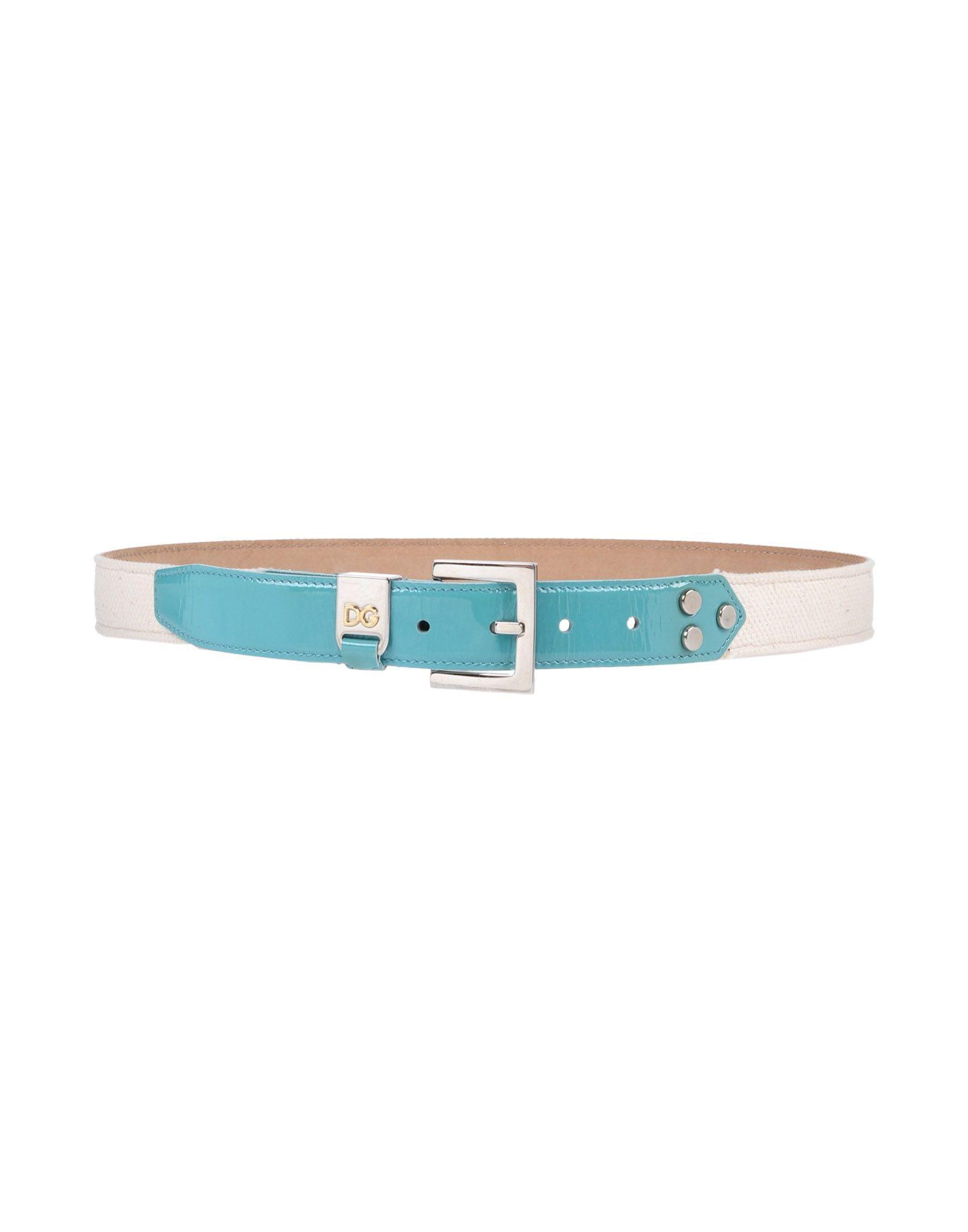 Dolce & Gabbana Belts In Light Green