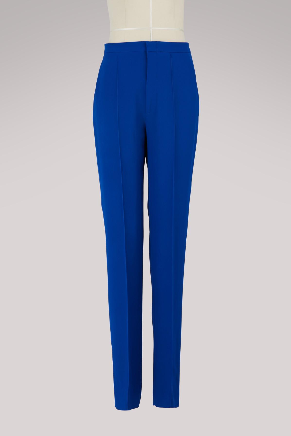 Gucci Stretch Pants In Cobalto