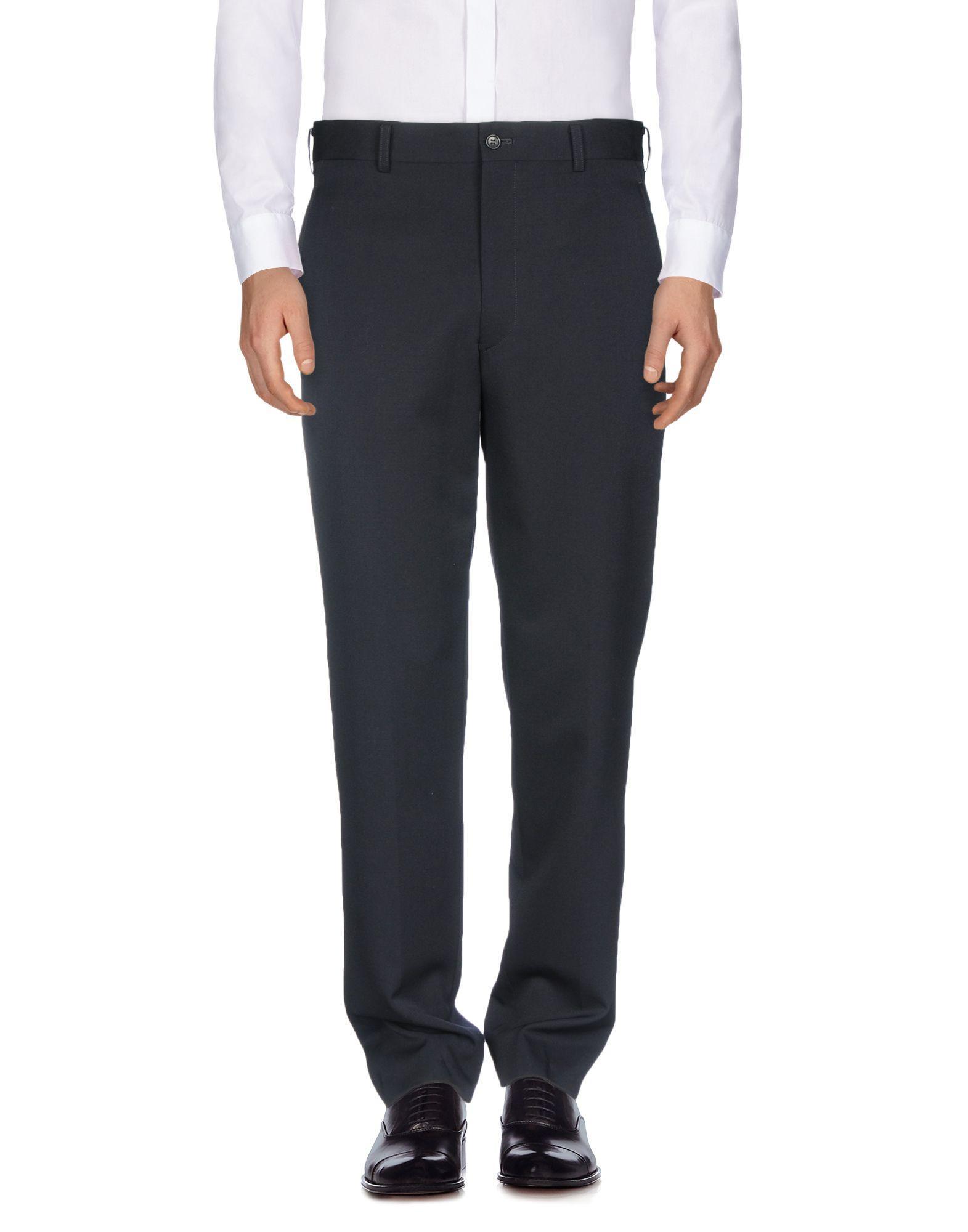 Comme Des GarÇons Homme Deux Casual Pants In Dark Blue