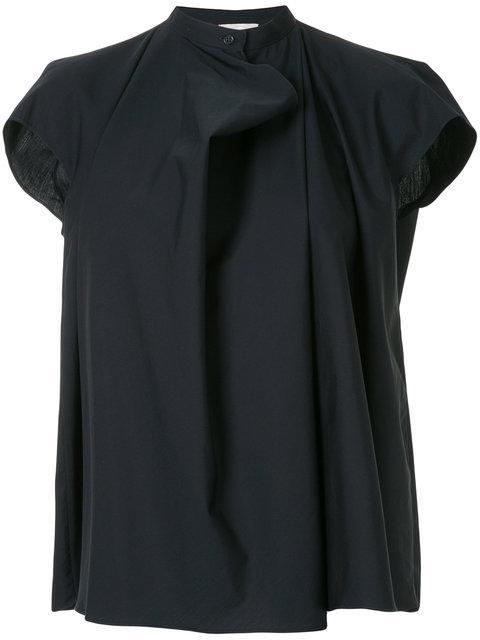 Lemaire Draped Short-sleeve Blouse