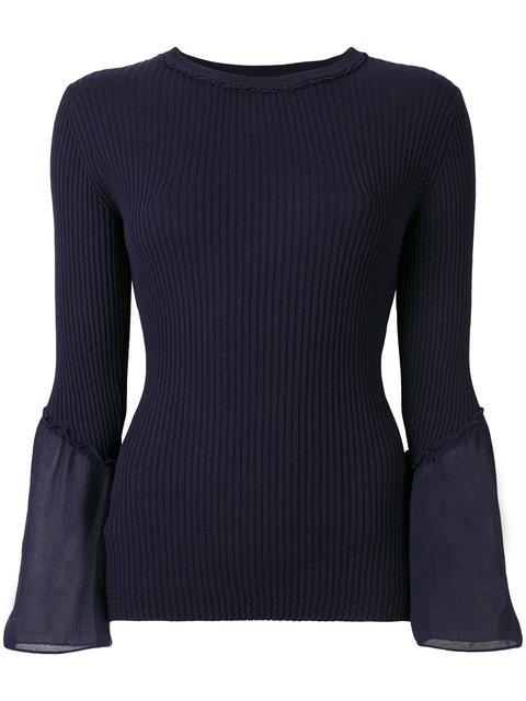 3.1 Phillip Lim Long-sleeve Ribbed Top