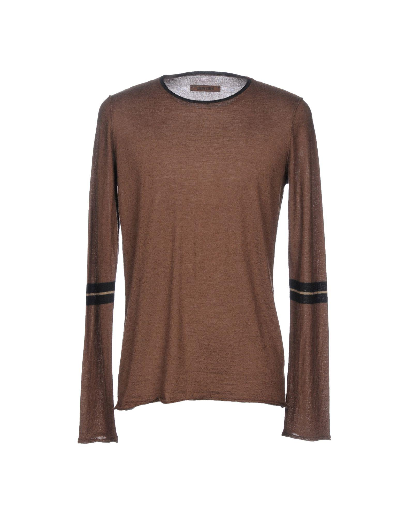 Ziggy Chen Sweaters In Khaki
