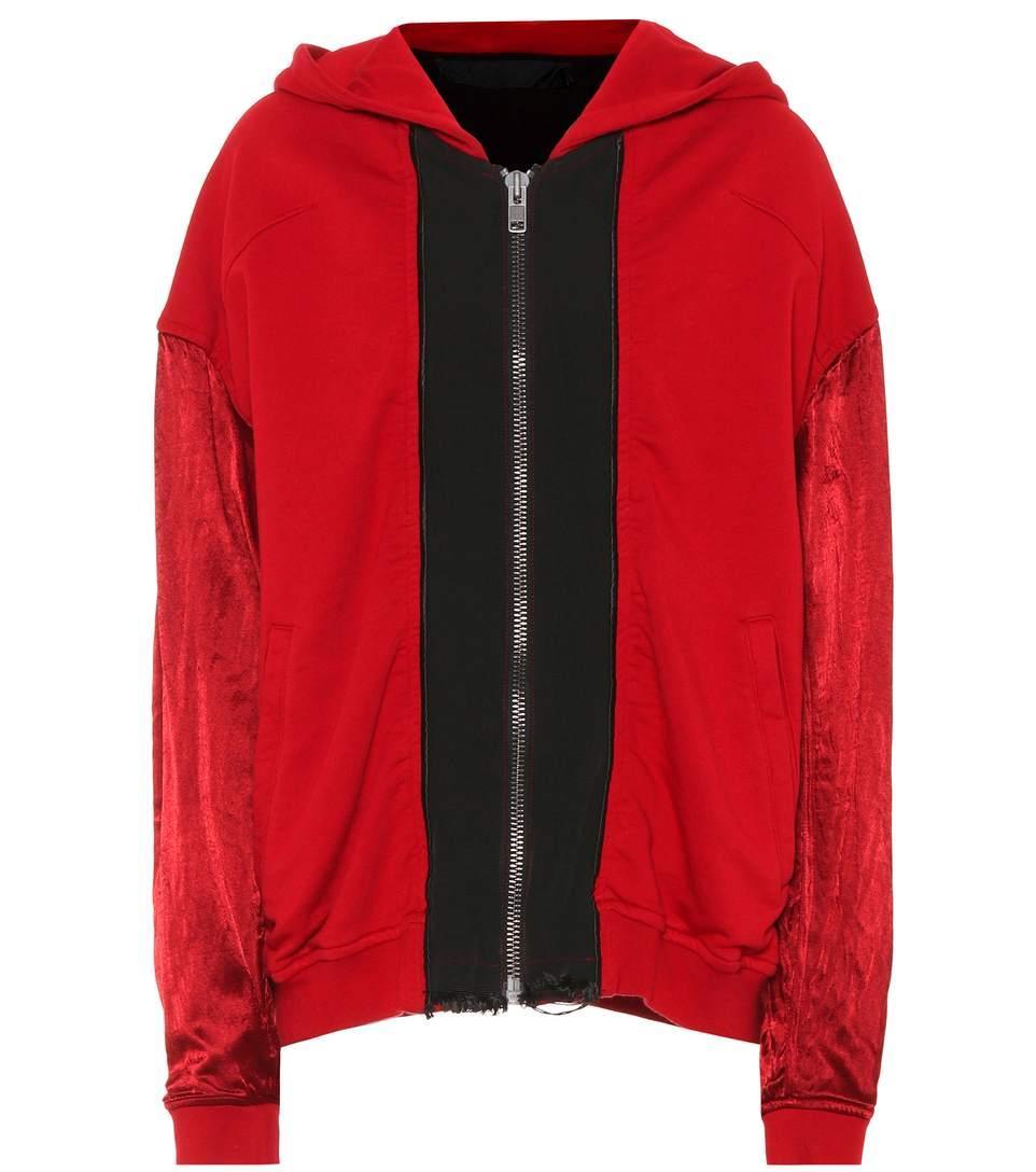 Haider Ackermann Cotton Hoodie In Red