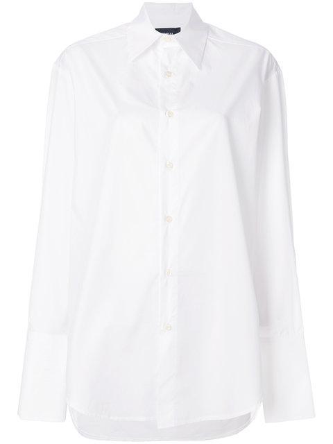 Yang Li Oversized Collar Shirt - White