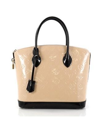 Louis Vuitton Pre-owned: Lockit Handbag Monogram Vernis Pm In Neutral