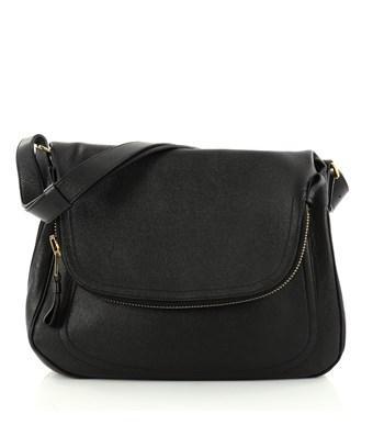 Tom Ford Pre-owned: Jennifer Shoulder Bag Nm Leather Medium In Black