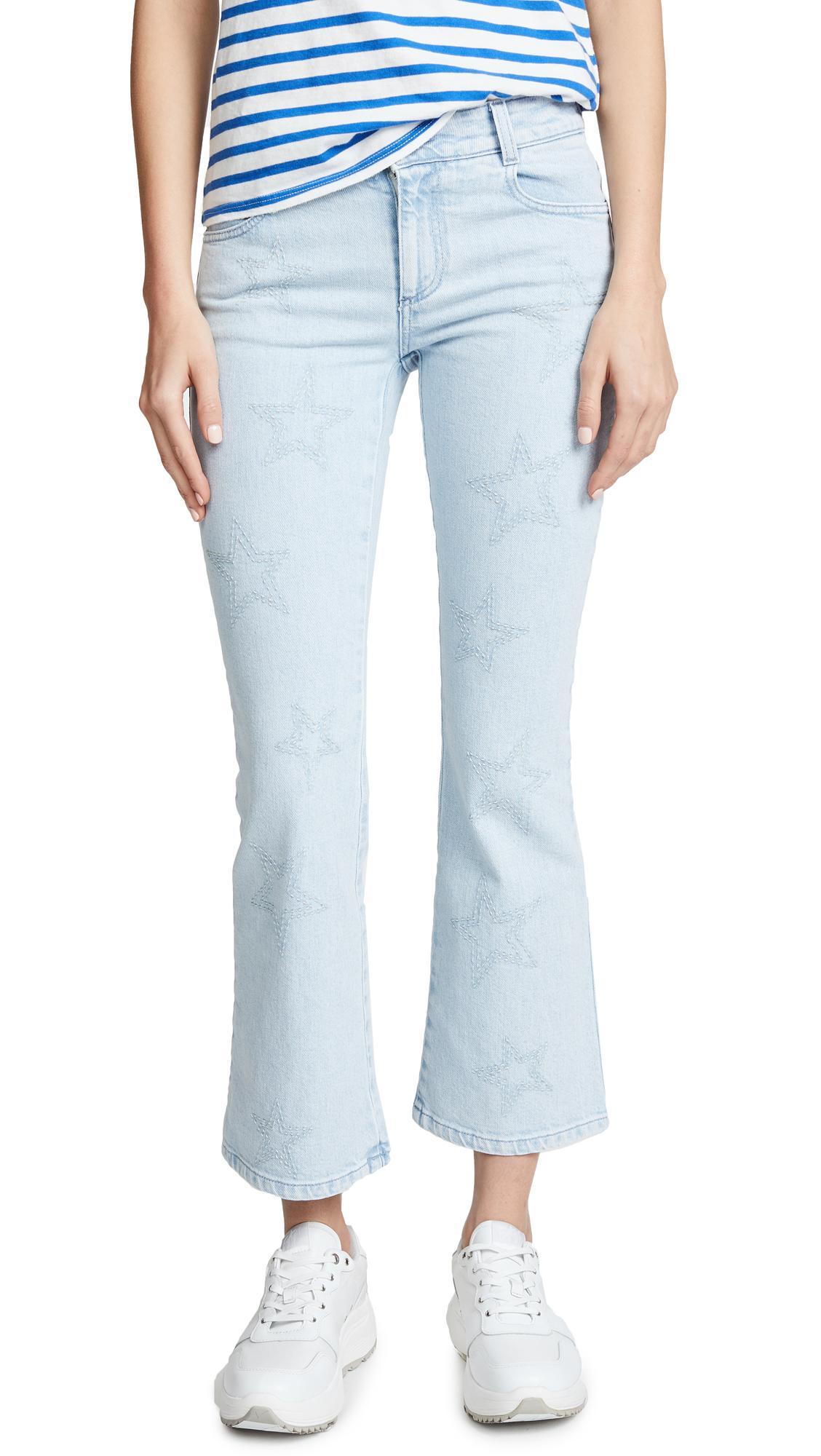 Stella Mccartney The Skinny Light Wash Flare Jeans In Azzurro
