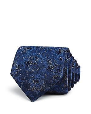 Lanvin Woven Floral Classic Tie In Navy