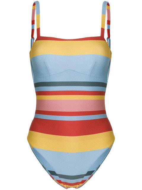 Asceno Striped Swimsuit