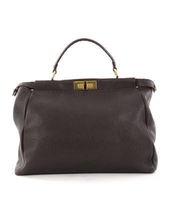 Fendi Pre-owned: Selleria Peekaboo Handbag Leather Large In Brown