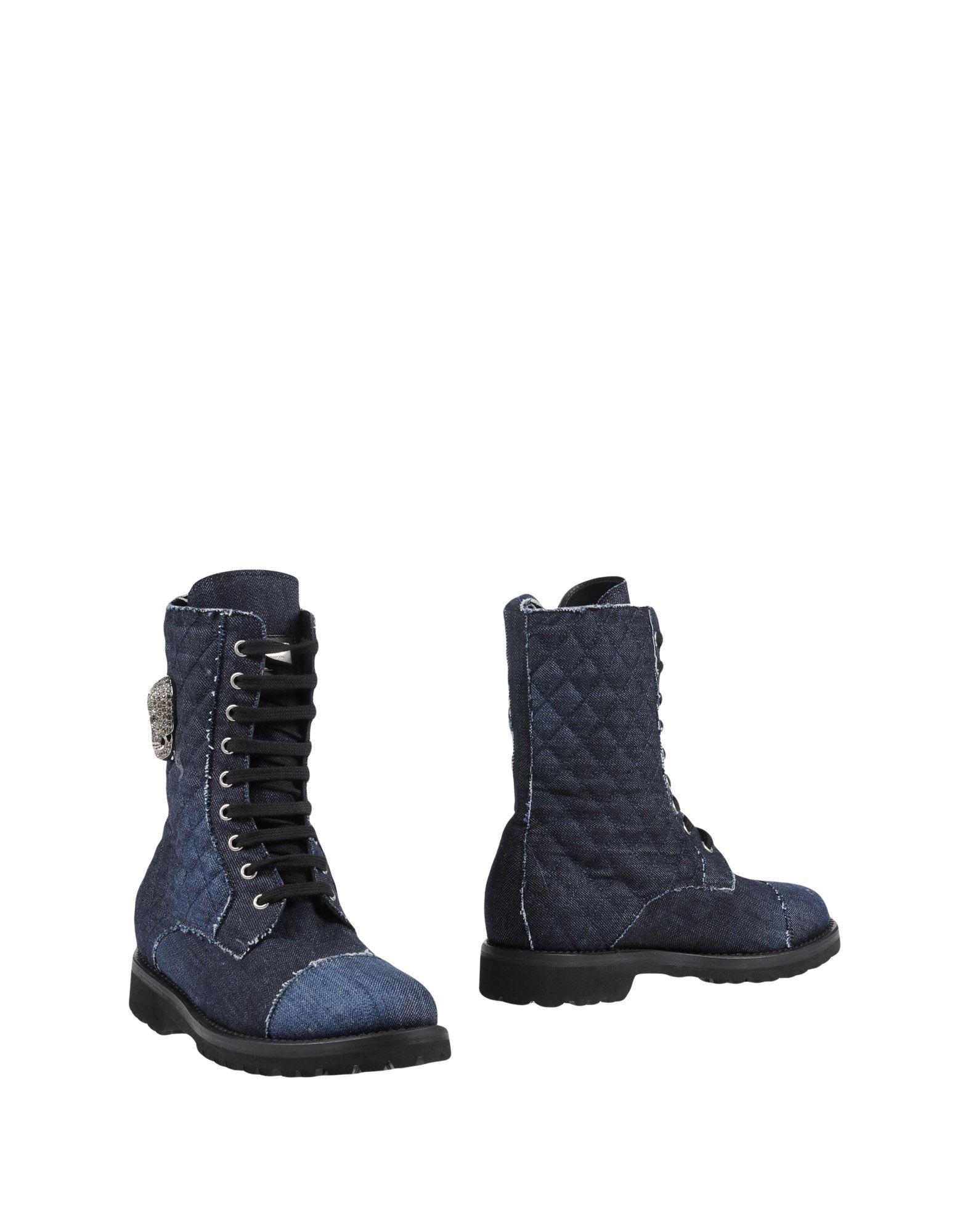 Philipp Plein Ankle Boot In Blue
