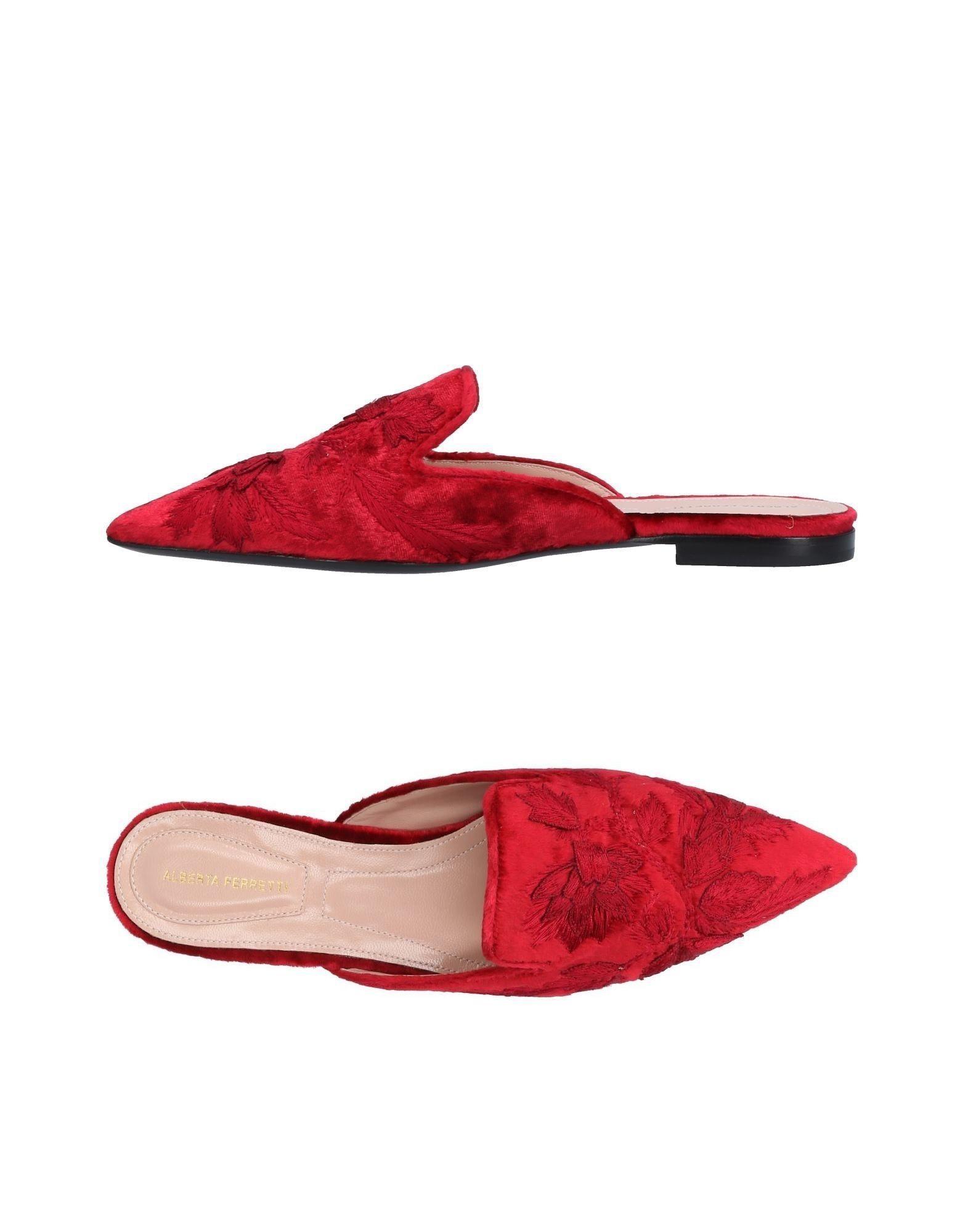Alberta Ferretti Mules In Red
