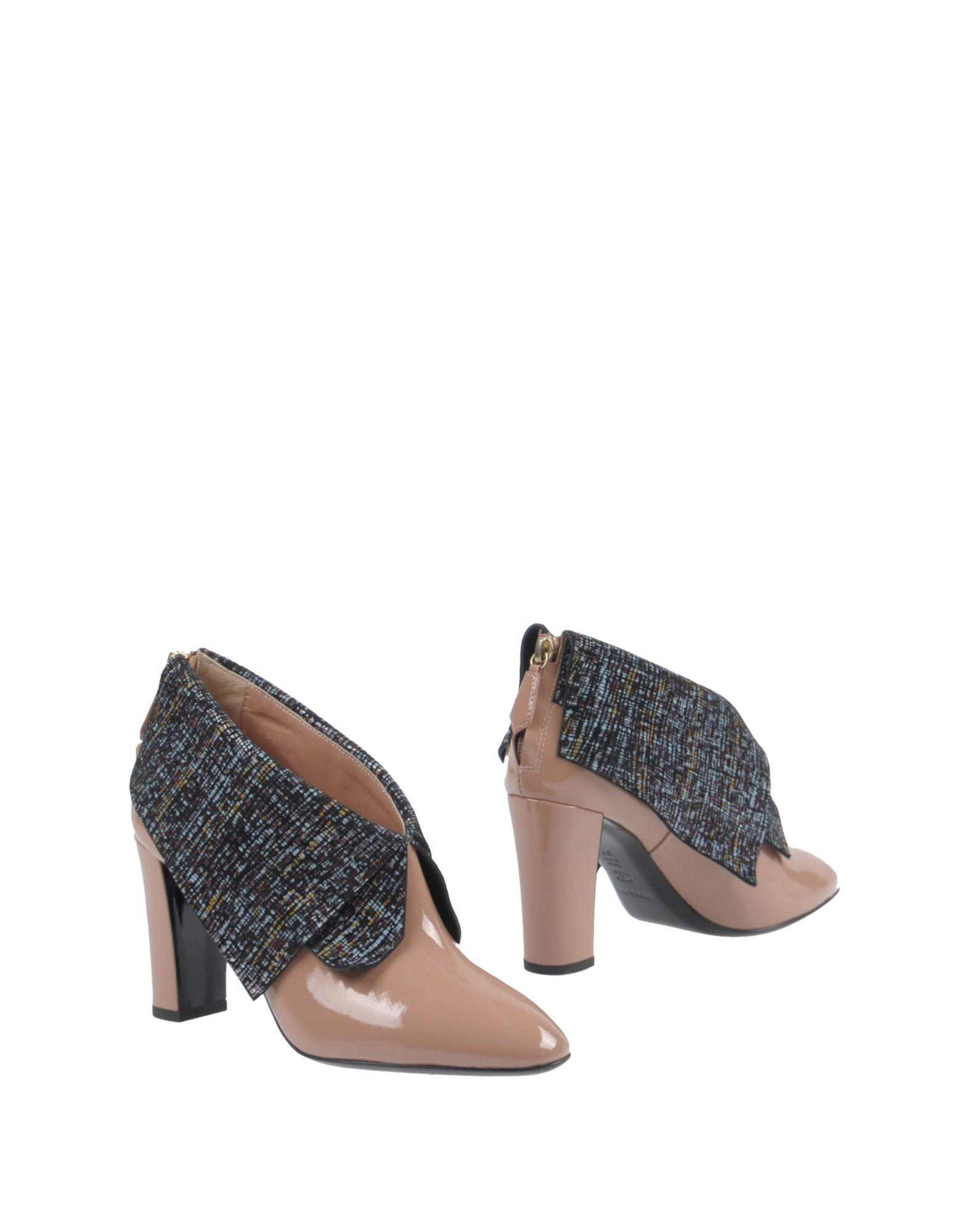 Pollini Ankle Boot In Pale Pink