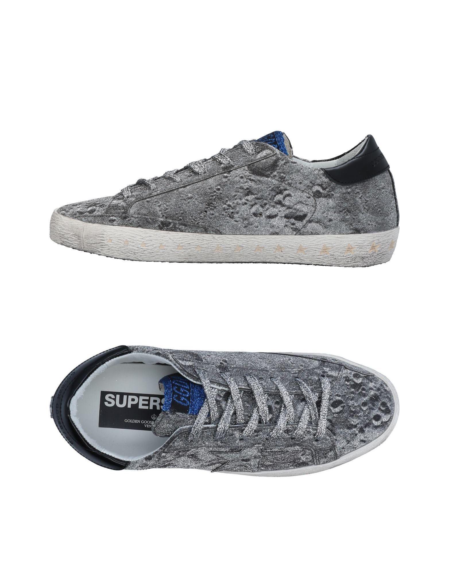 Golden Goose Sneakers In Silver