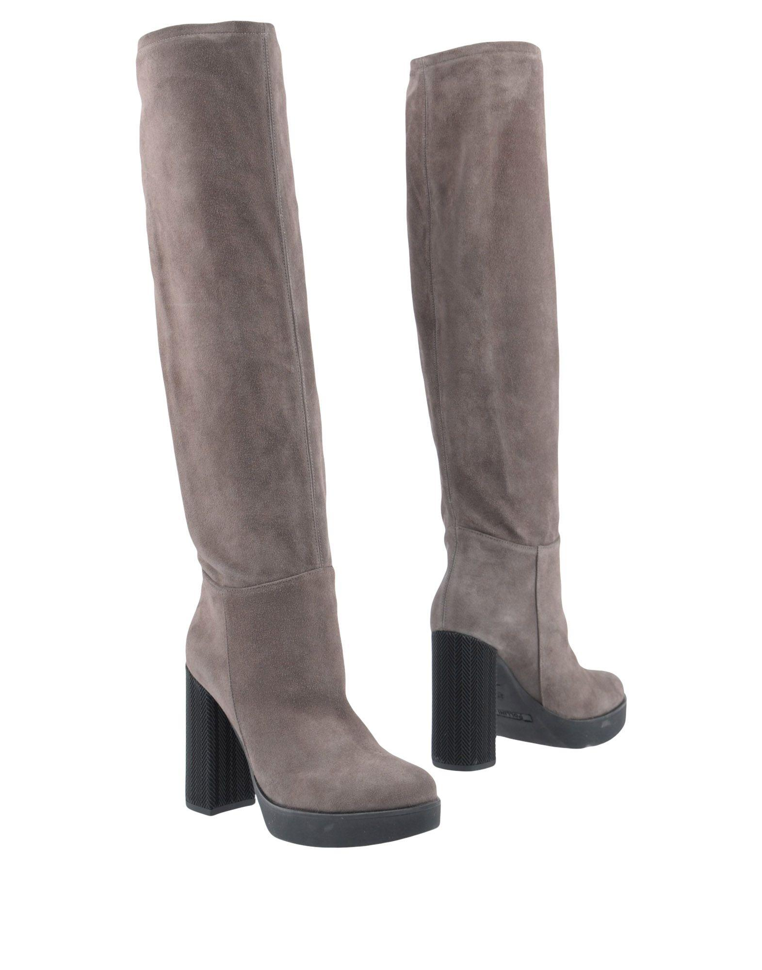 Pollini Boots In Grey