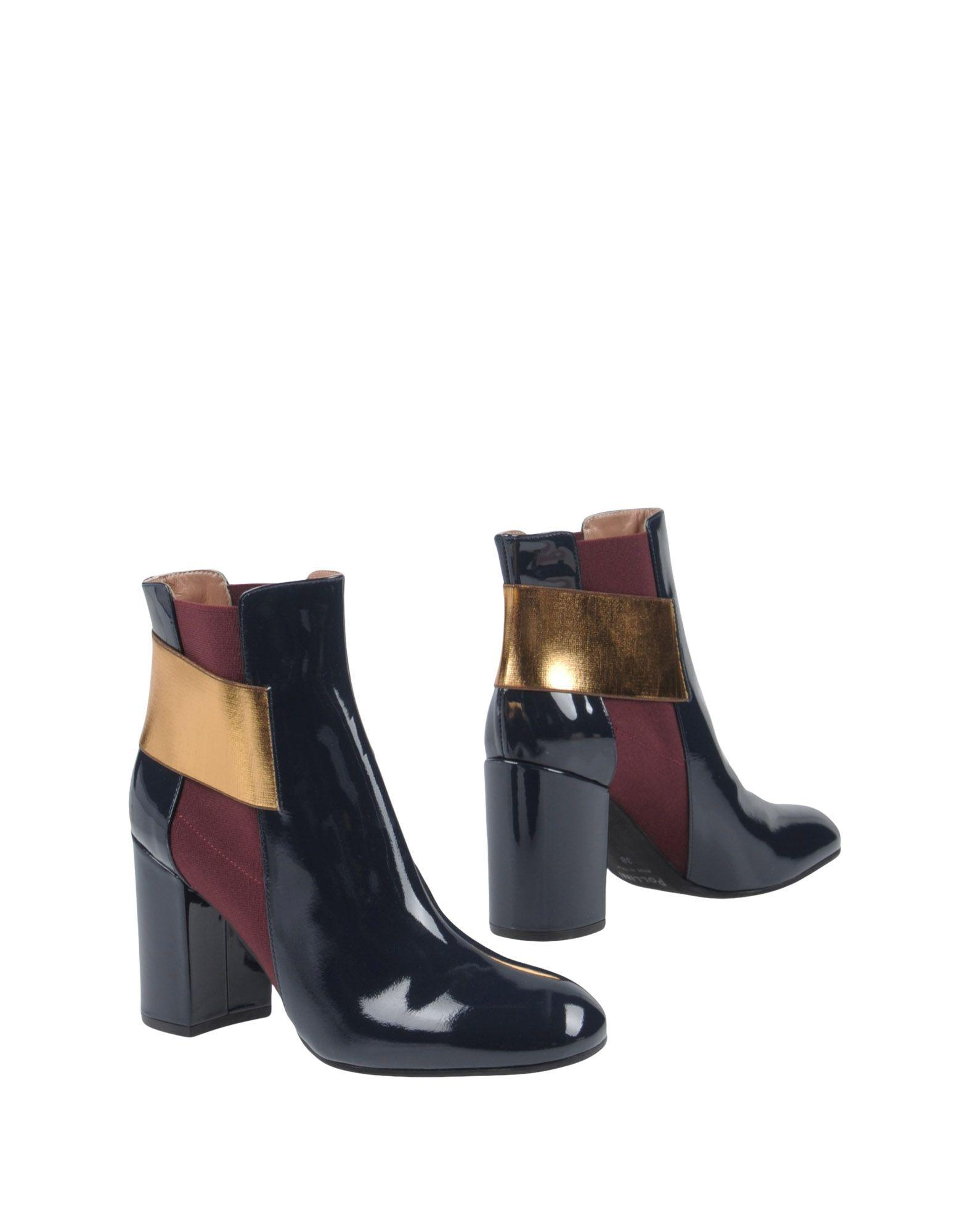 Pollini Ankle Boots In Dark Blue