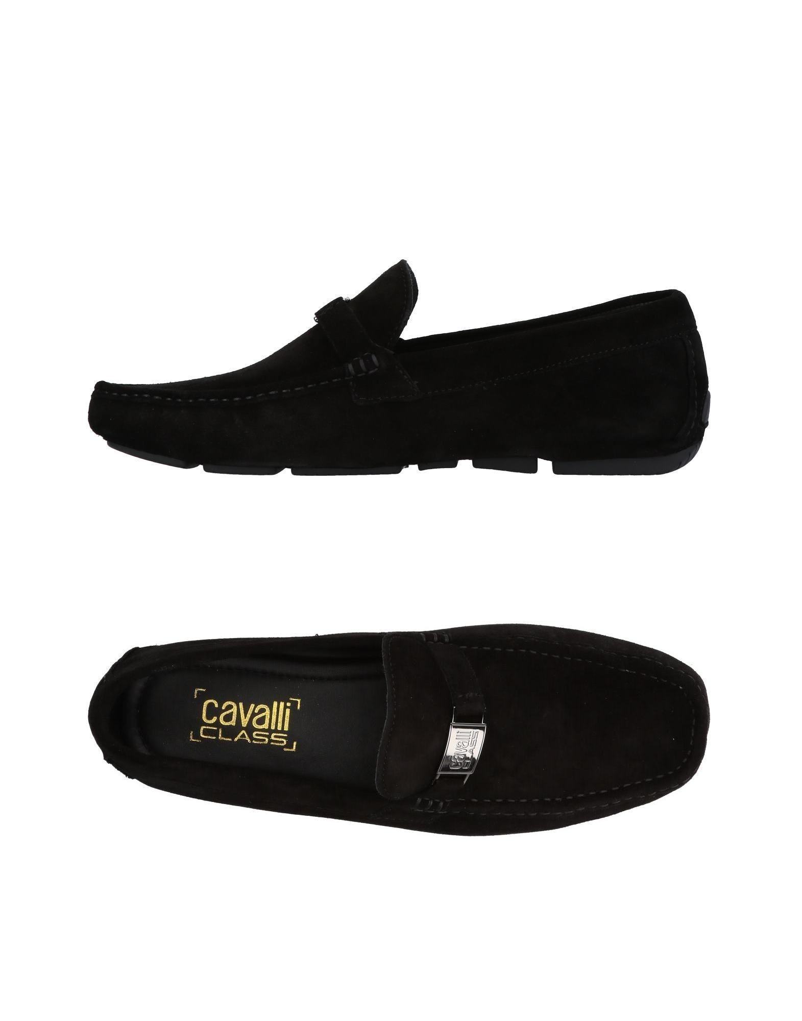 Class Roberto Cavalli Loafers In Black
