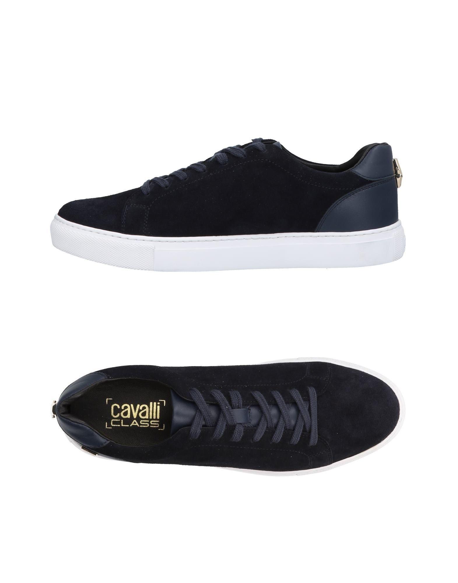 Class Roberto Cavalli Sneakers In Dark Blue