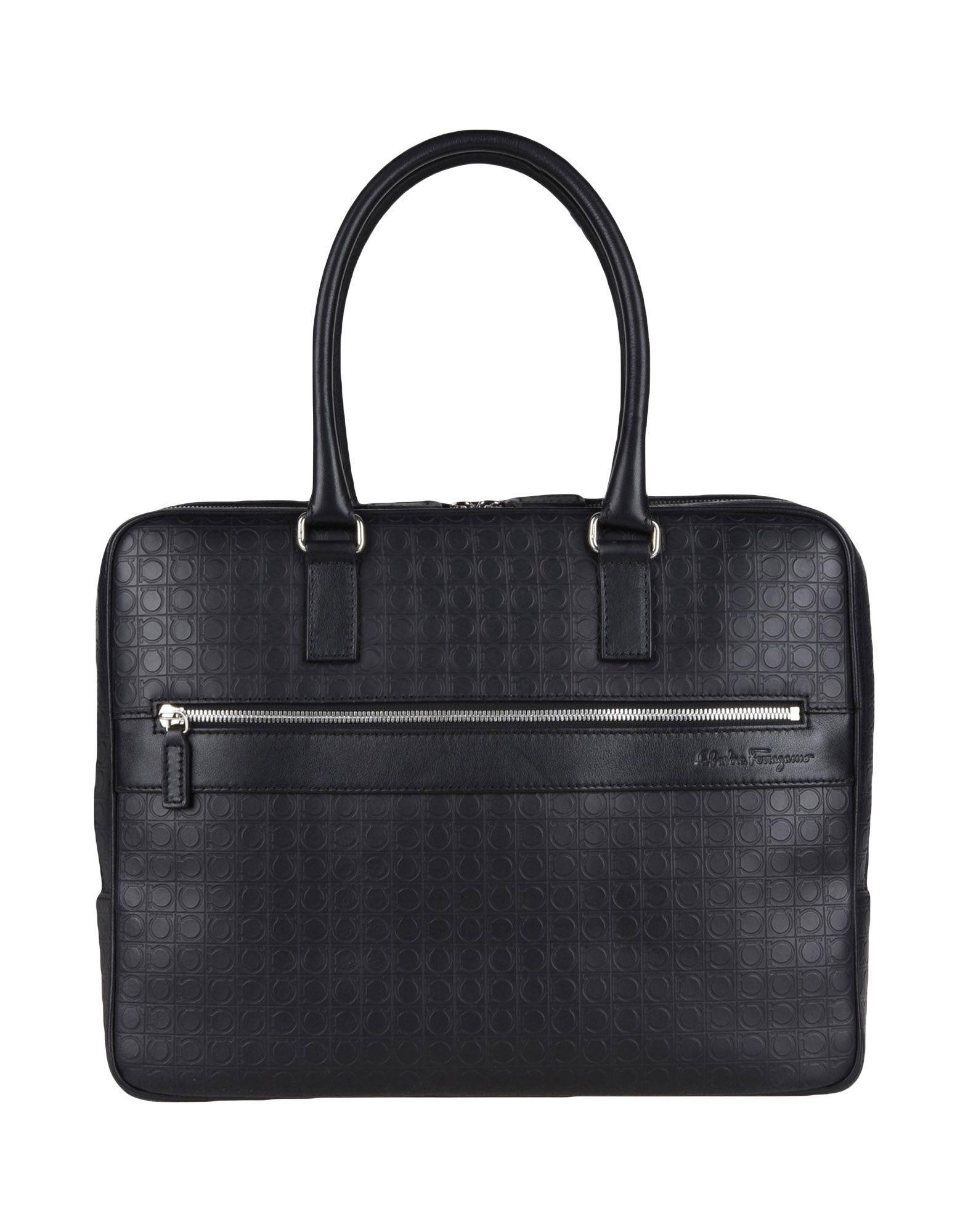 Salvatore Ferragamo Work Bags In Black