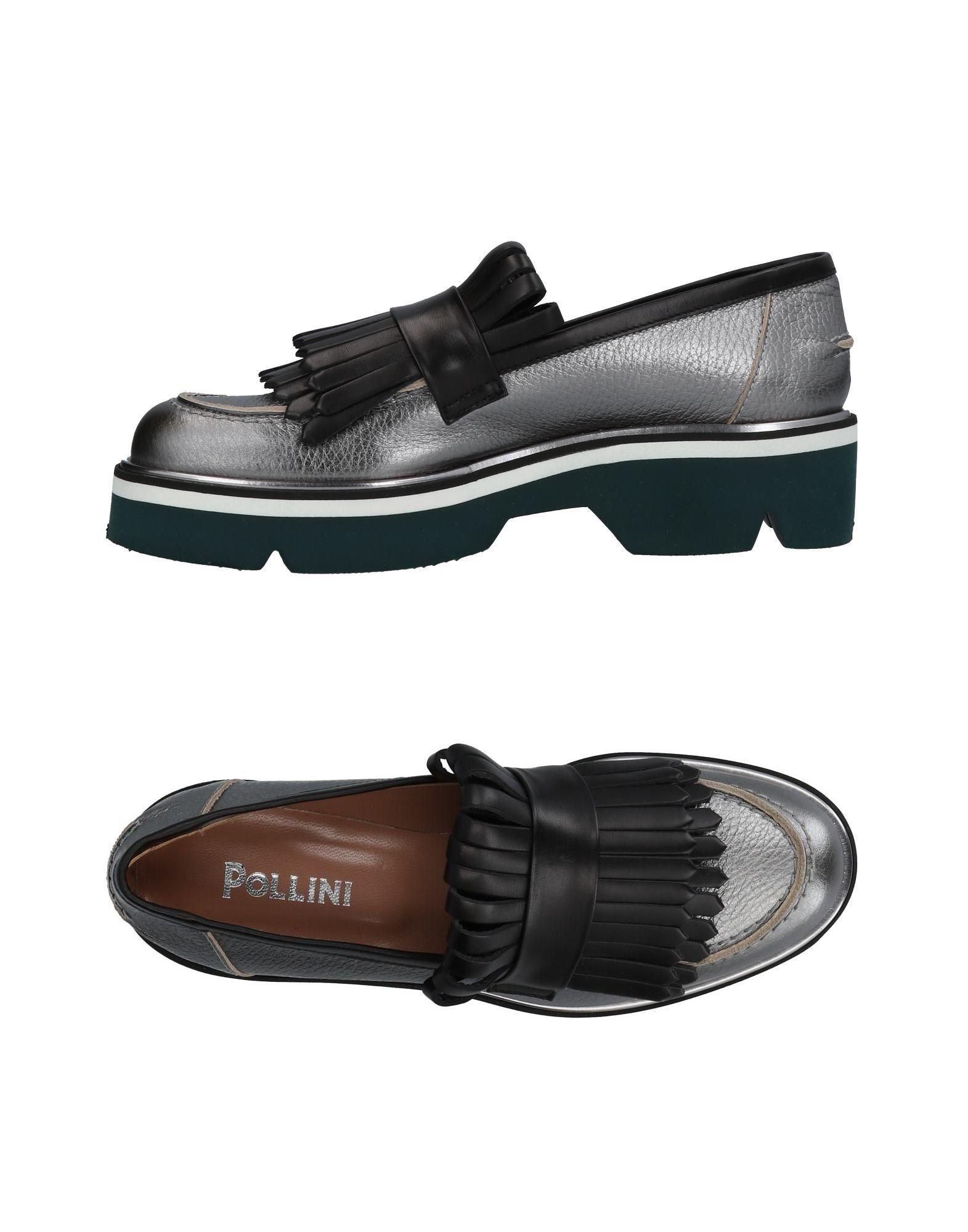 Pollini Loafers In Silver