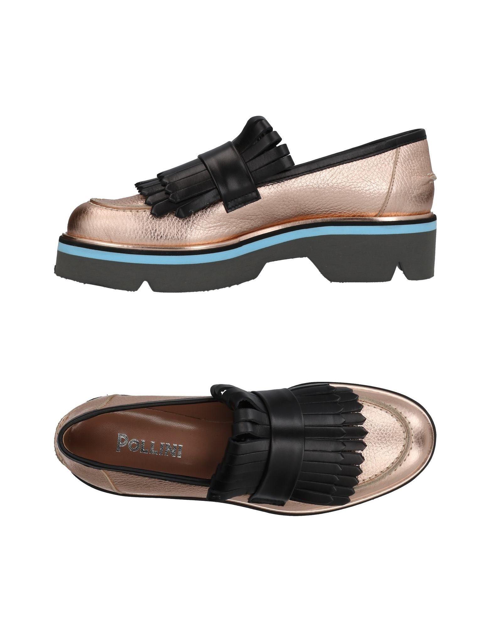 Pollini Loafers In Copper
