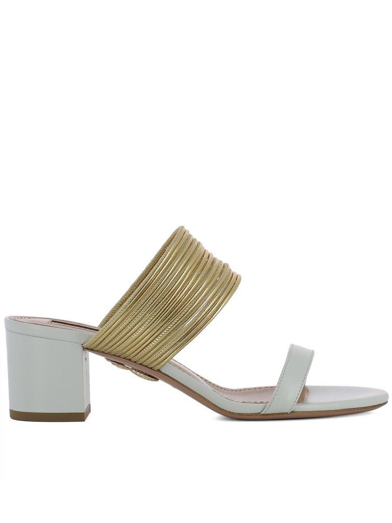 d1e5ac1afd2 Aquazzura Rendezvous White Leather Sandals