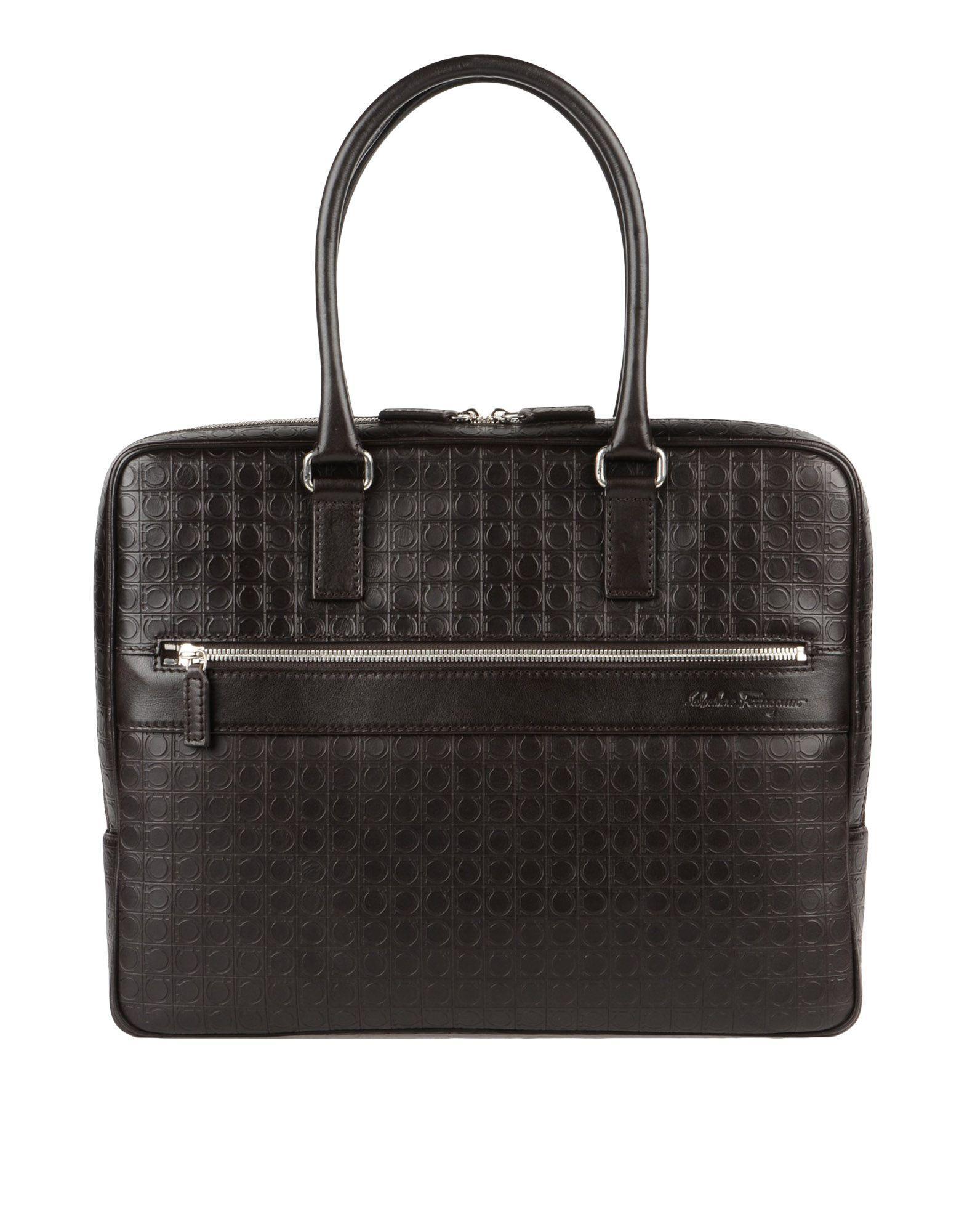 Salvatore Ferragamo Work Bags In Dark Brown