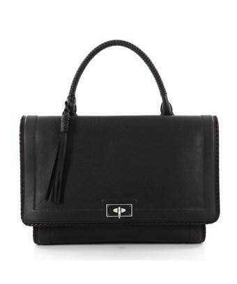 Givenchy Pre-owned: Shark Convertible Satchel Leather Medium In Black
