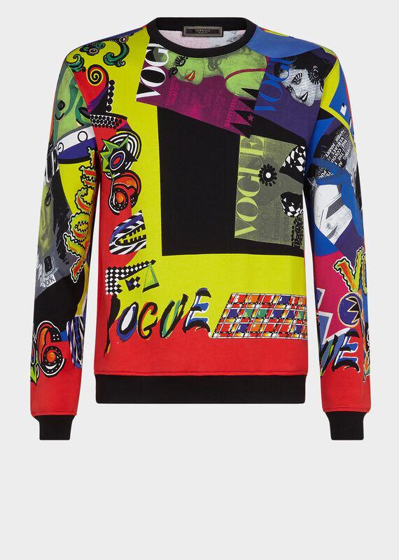 Versace Vogue Ss '91 Print Sweatshirt