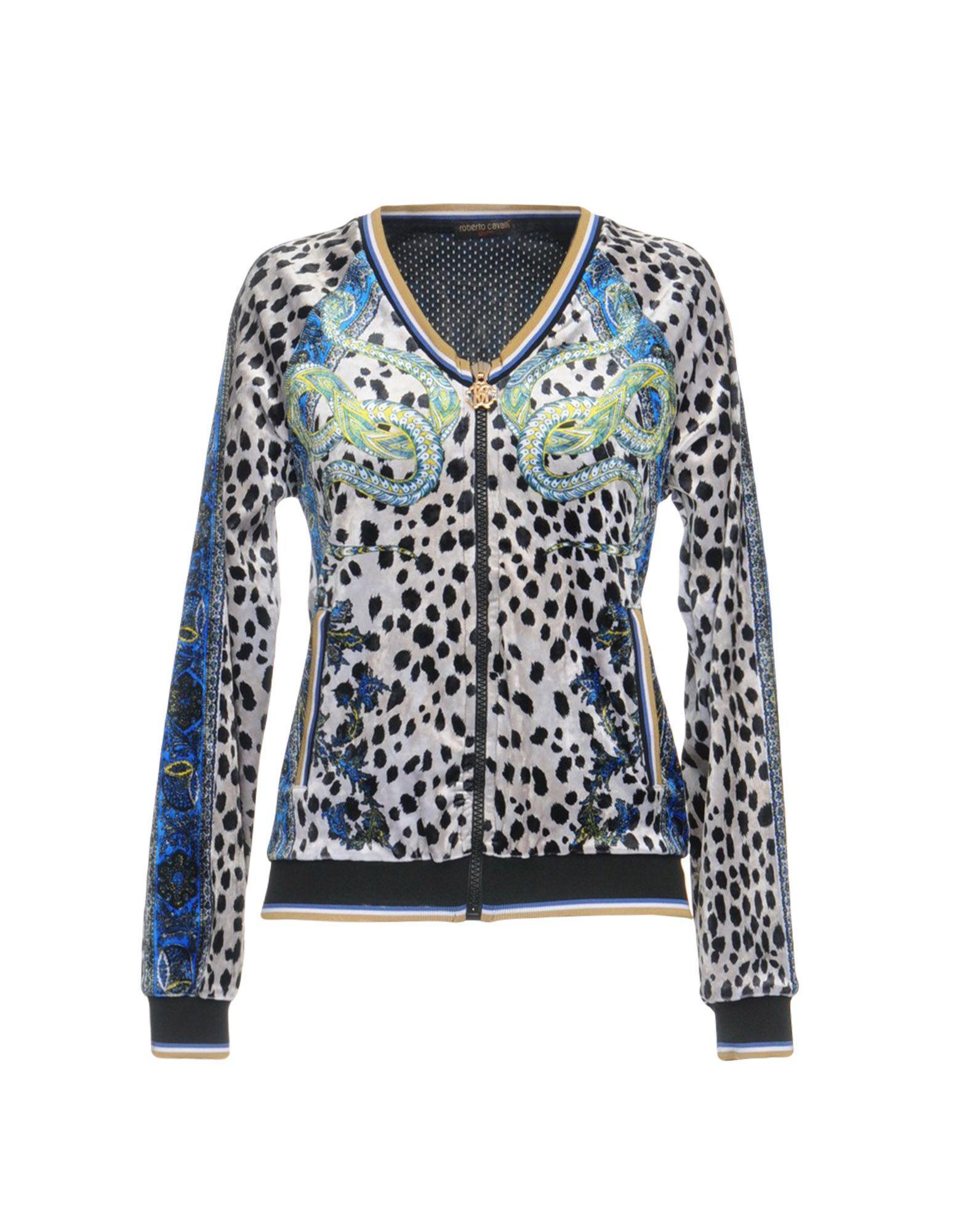 Roberto Cavalli Gym Sweatshirts In Blue