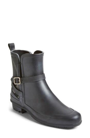 Burberry 'riddlestone' Rain Boot In Black/ Charcoal