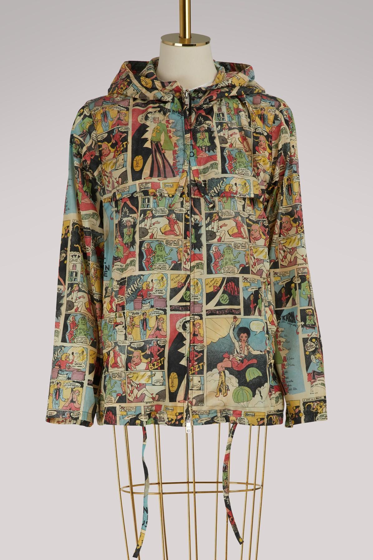 Prada Comics Printed Raincoat In Multi