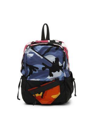 Valentino Garavani Camouflage-print Shell Backpack - Blue - One Siz In Multi
