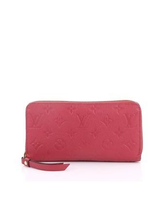 Louis Vuitton Pre-owned: Zippy Wallet Monogram Empreinte Leather In Pink