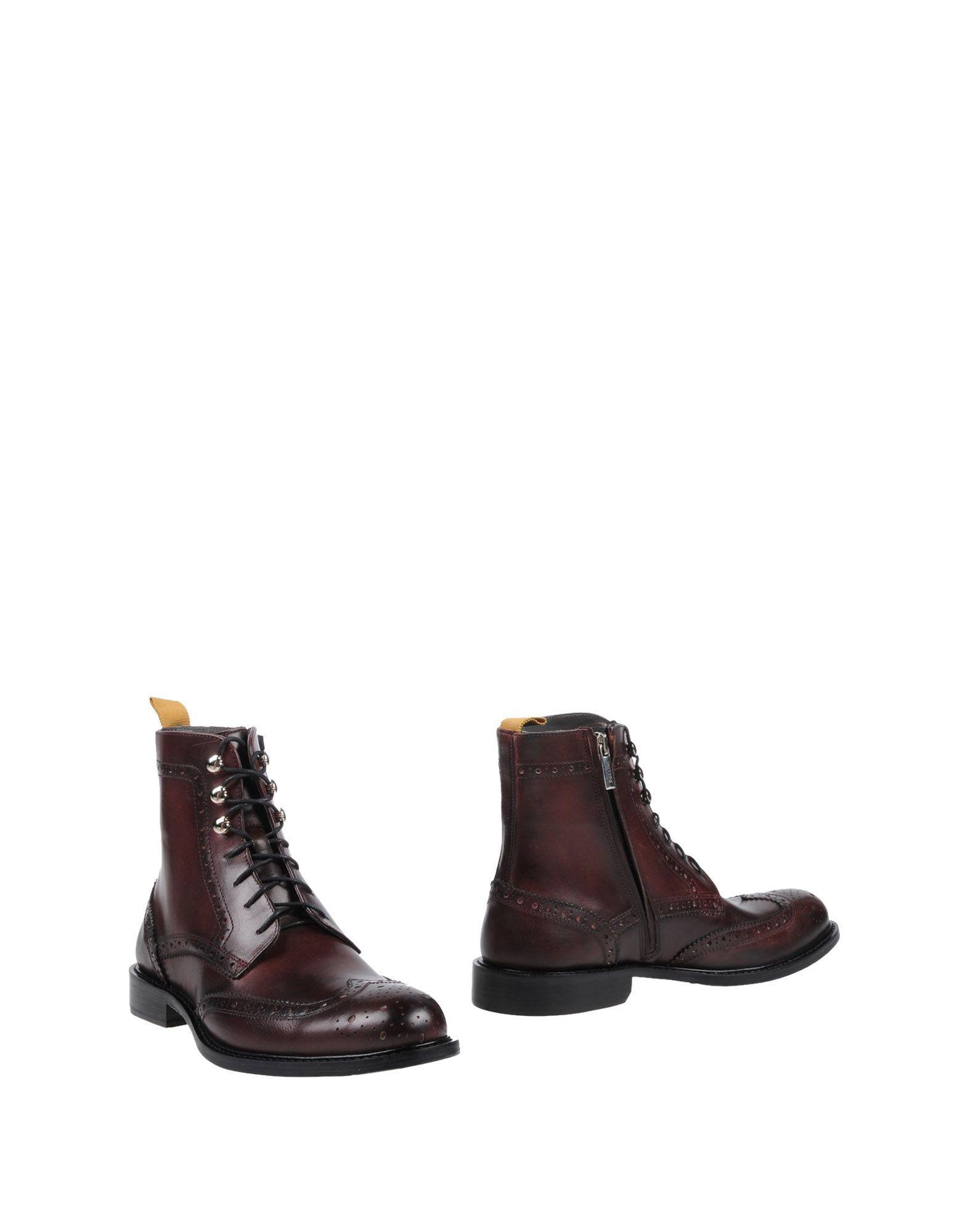 Pollini Boots In Maroon