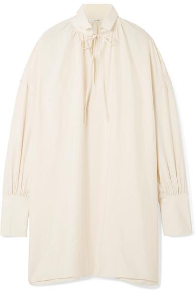 The Row Darma Oversized Silk-poplin Blouse