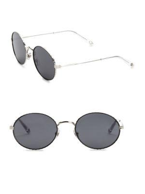 Givenchy 53mm Round Sunglasses In Silver Grey