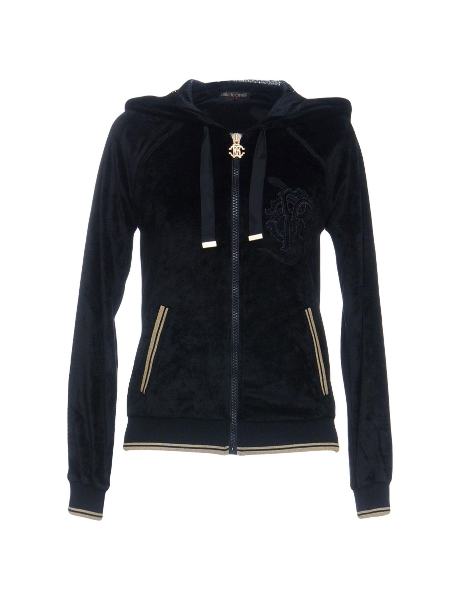 Roberto Cavalli Gym Sweatshirts In Black